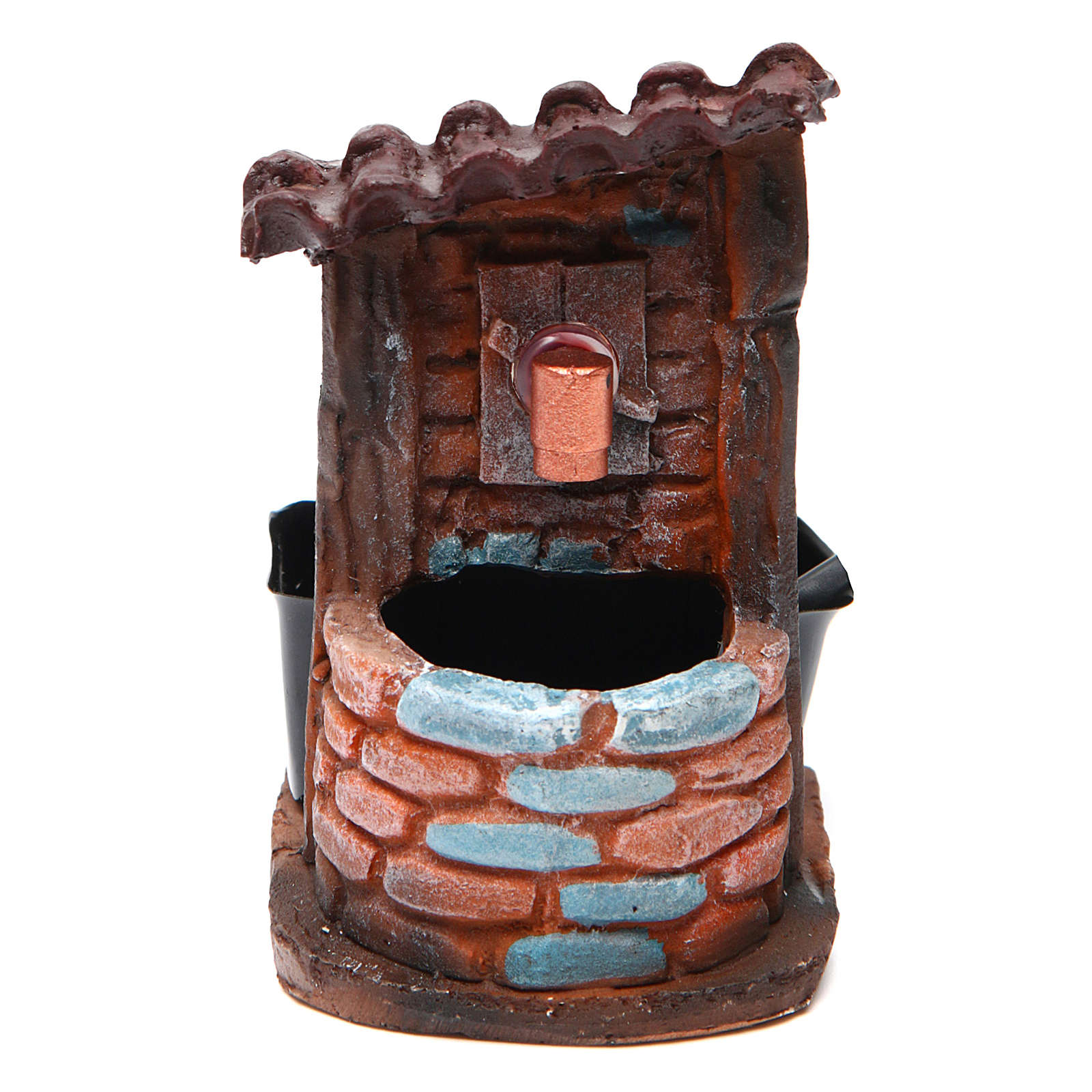 Nativity accessory, fountain with pump, 9x7x10 cm 4