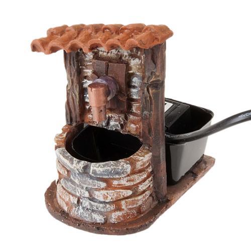 Fontaine accessoire crèche noël avec pompe 9x7x10 1