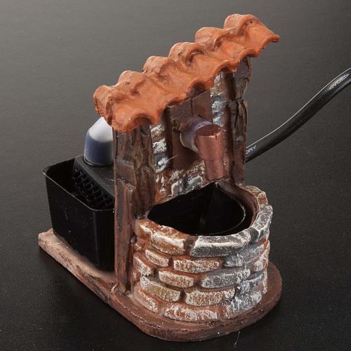 Fontaine accessoire crèche noël avec pompe 9x7x10 2