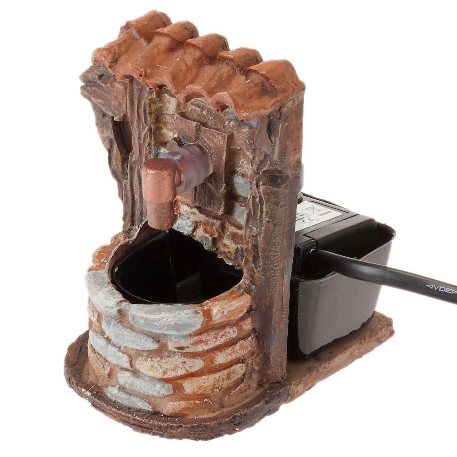 brunnen mit ziegelsteinen und pumpe 9x7x10 | online verfauf auf holyart