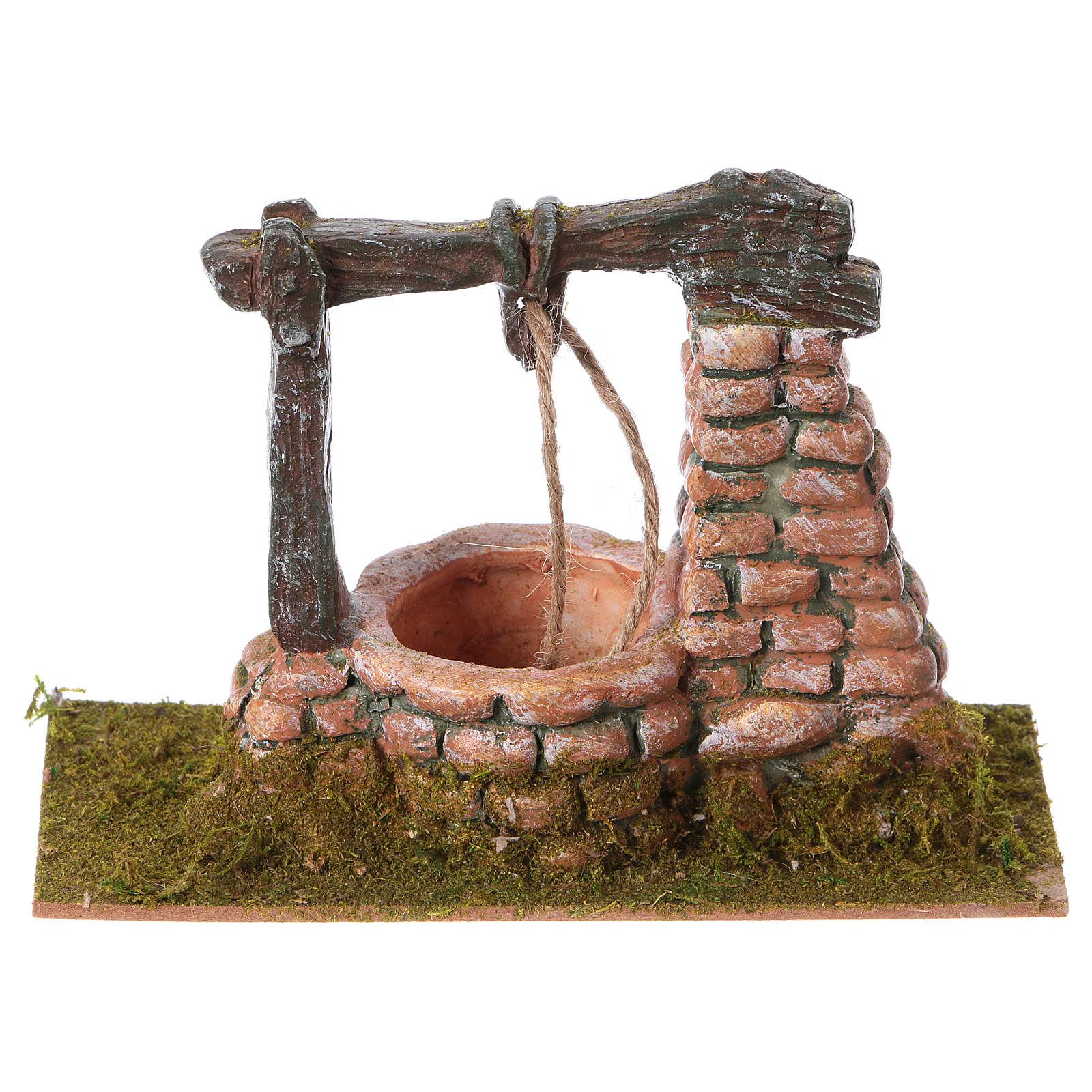 Poço miniatura para presépio resina 15x8 cm 4