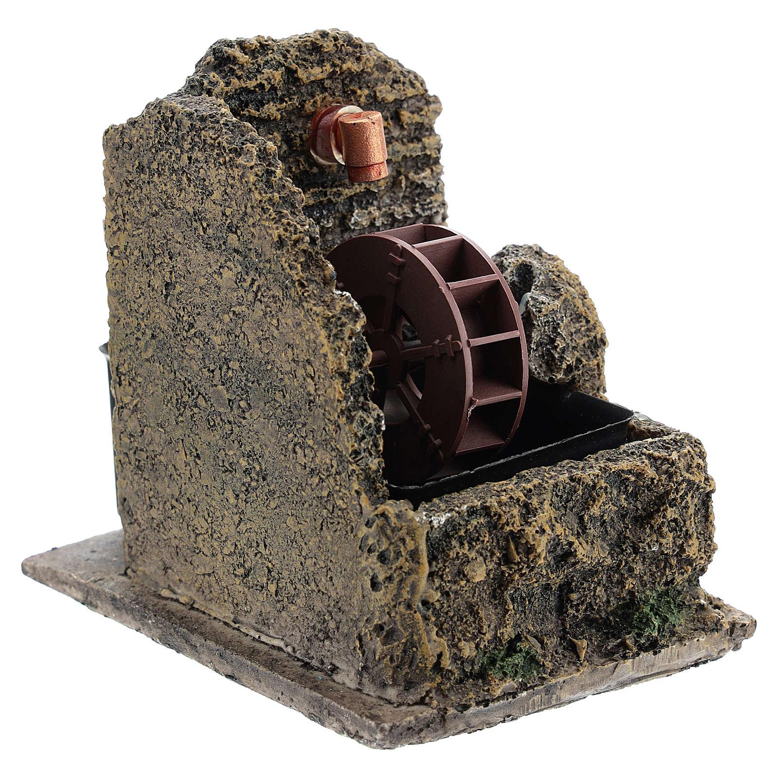 Mini moulin à eau crèche Noel 13x10 4