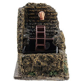 Mini moulin à eau crèche Noel 13x10 s1
