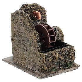 Mini moulin à eau crèche Noel 13x10 s3