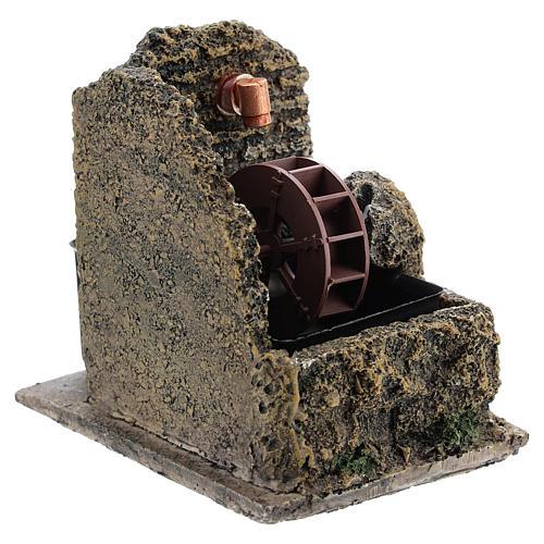 Mini moulin à eau crèche Noel 13x10 3