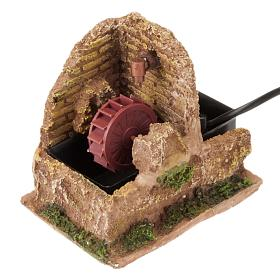 Nativity accessory, electric watermill 13x10 cm s1