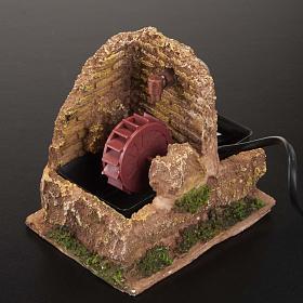 Nativity accessory, electric watermill 13x10 cm s2