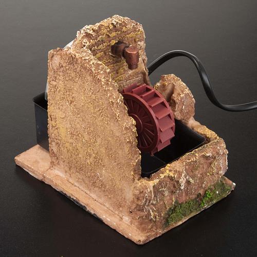 Nativity accessory, electric watermill 13x10 cm 3