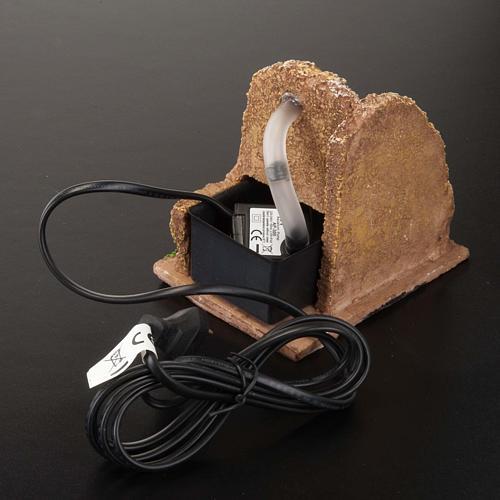 Nativity accessory, electric watermill 13x10 cm 4