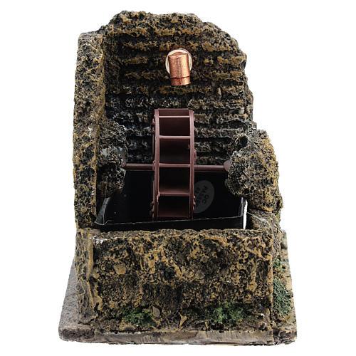 Nativity accessory, electric watermill 13x10 cm 1