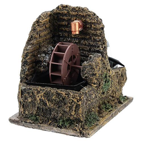 Nativity accessory, electric watermill 13x10 cm 2