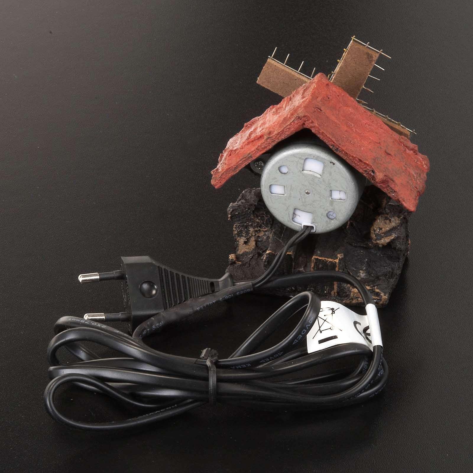 Nativity accessory, electric windmill 7x5 cm 4