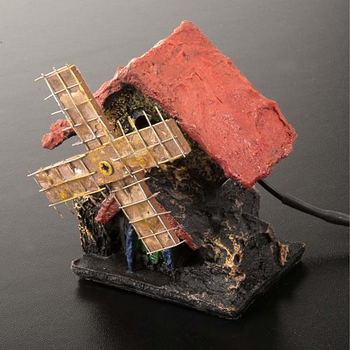 Nativity accessory, electric windmill 7x5 cm 2