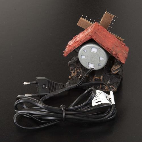 Nativity accessory, electric windmill 7x5 cm 3