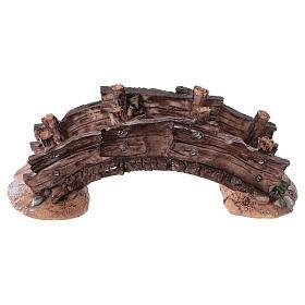 Pont miniature crèche noël 14.5x7x5 s4