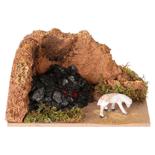 Nativity setting with charcoal measuring 10x6cm 1