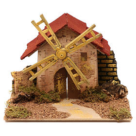 Nativity accessory, electric windmill 20x14 cm s1