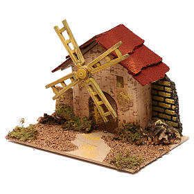 Nativity accessory, electric windmill 20x14 cm s2