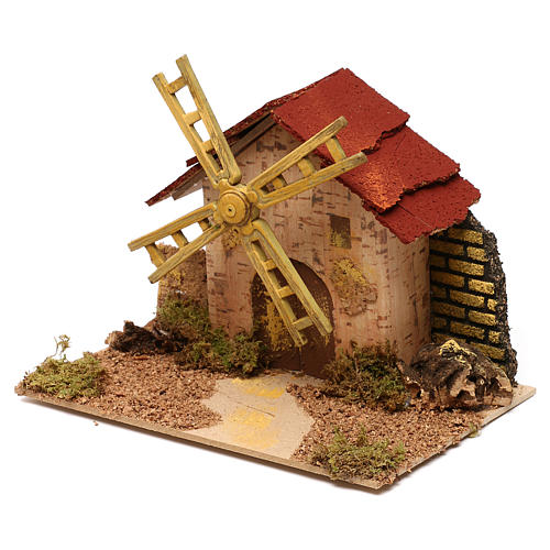 Nativity accessory, electric windmill 20x14 cm 2