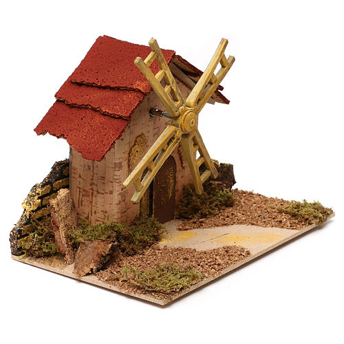 Nativity accessory, electric windmill 20x14 cm 3