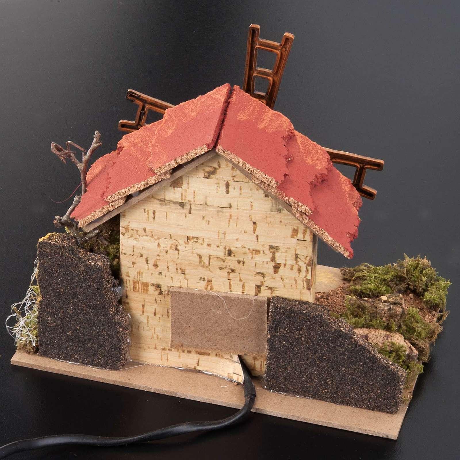 Mini moulin à vent crèche Noel 20x14 cm 4