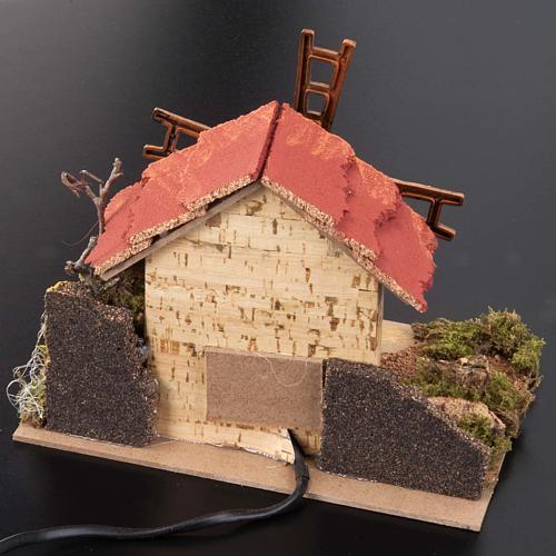 Mini moulin à vent crèche Noel 20x14 cm 3