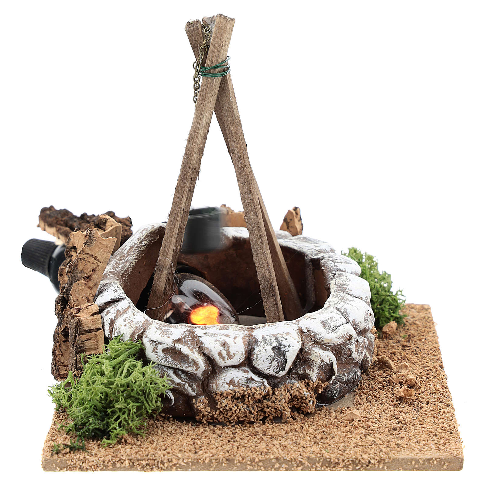 Nativity accessory, bonfire with pot 4