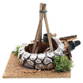 Nativity accessory, bonfire with pot s1