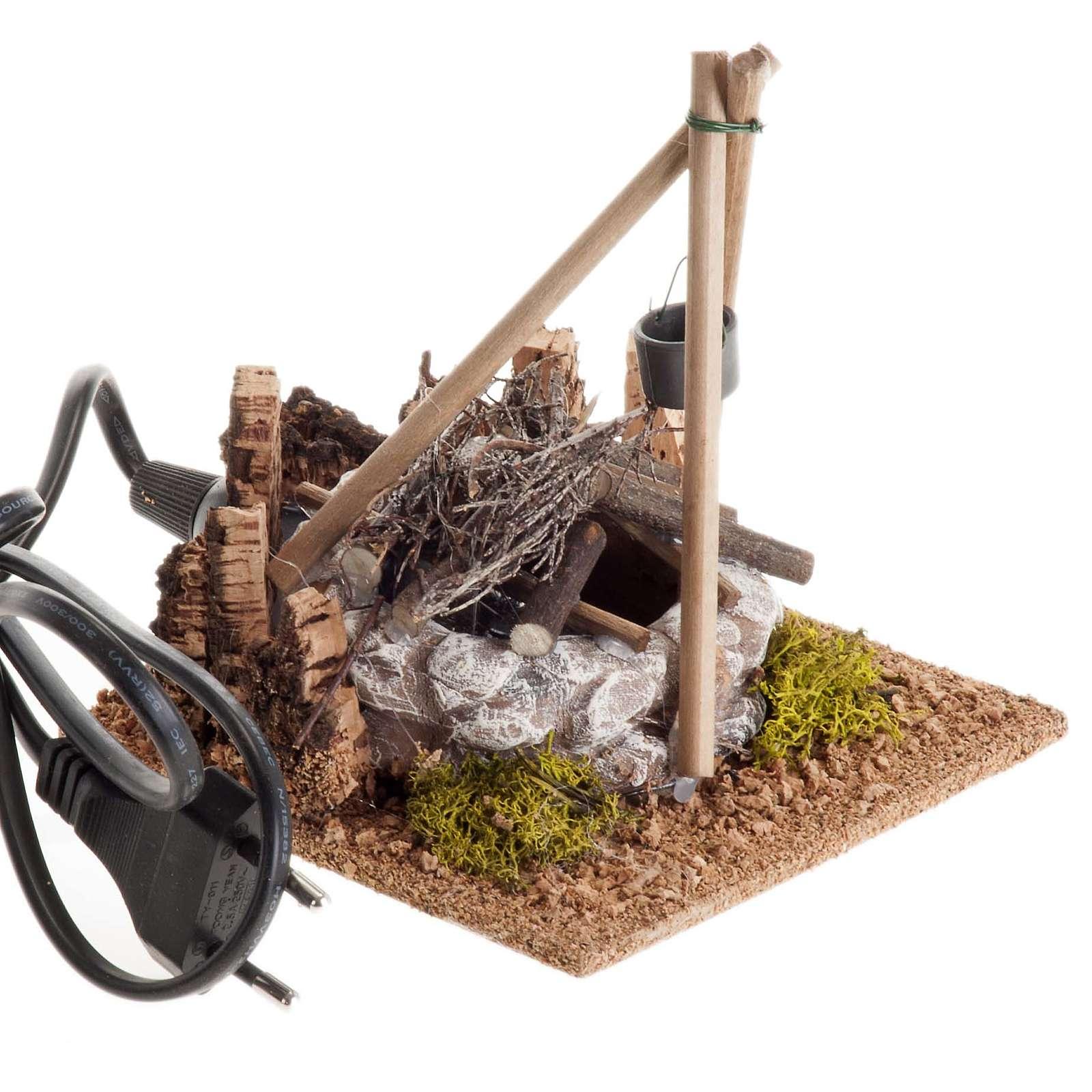 Nativity accessory, bonfire with pot 4