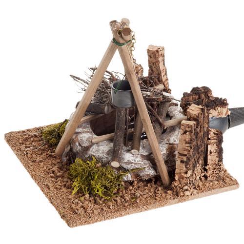 Nativity accessory, bonfire with pot 1