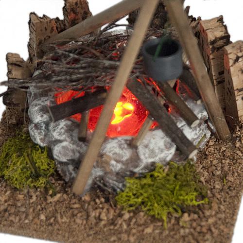 Nativity accessory, bonfire with pot 3