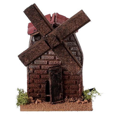 Nativity accessory, electric windmill 13x10x10 cm 5