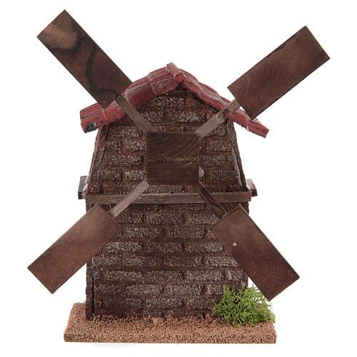 Nativity accessory, electric windmill 13x10x10 cm 1