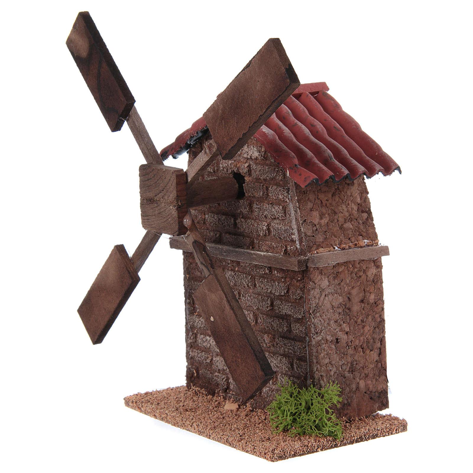 Molino de viento eléctrico para el pesebre 13x10x10 4
