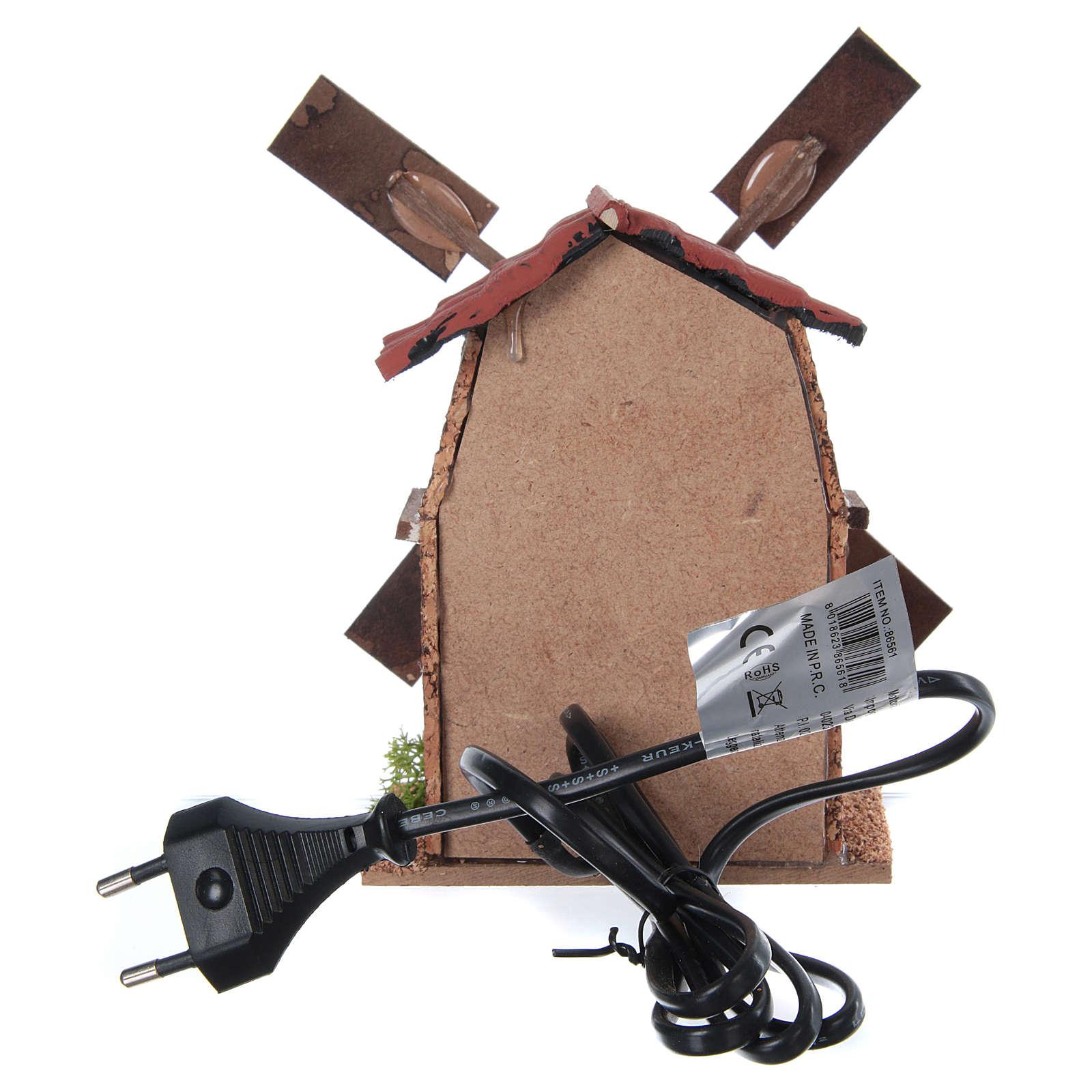 Wiatrak elektryczny do szopki 13x10x10 4