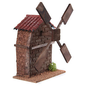 Nativity accessory, electric windmill 13x10x10 cm s3