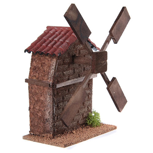 Nativity accessory, electric windmill 13x10x10 cm 3