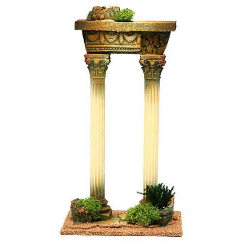 Roman pillars with ruins for Nativity scene 1