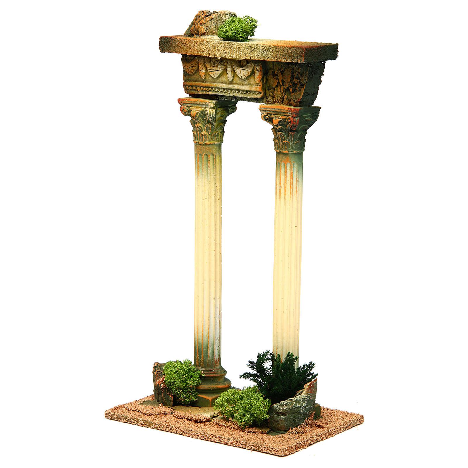 Columnas romana con viga: ambientación belén 4