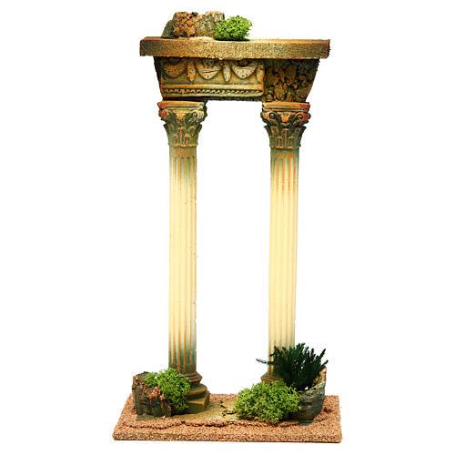 Columnas romana con viga: ambientación belén 1