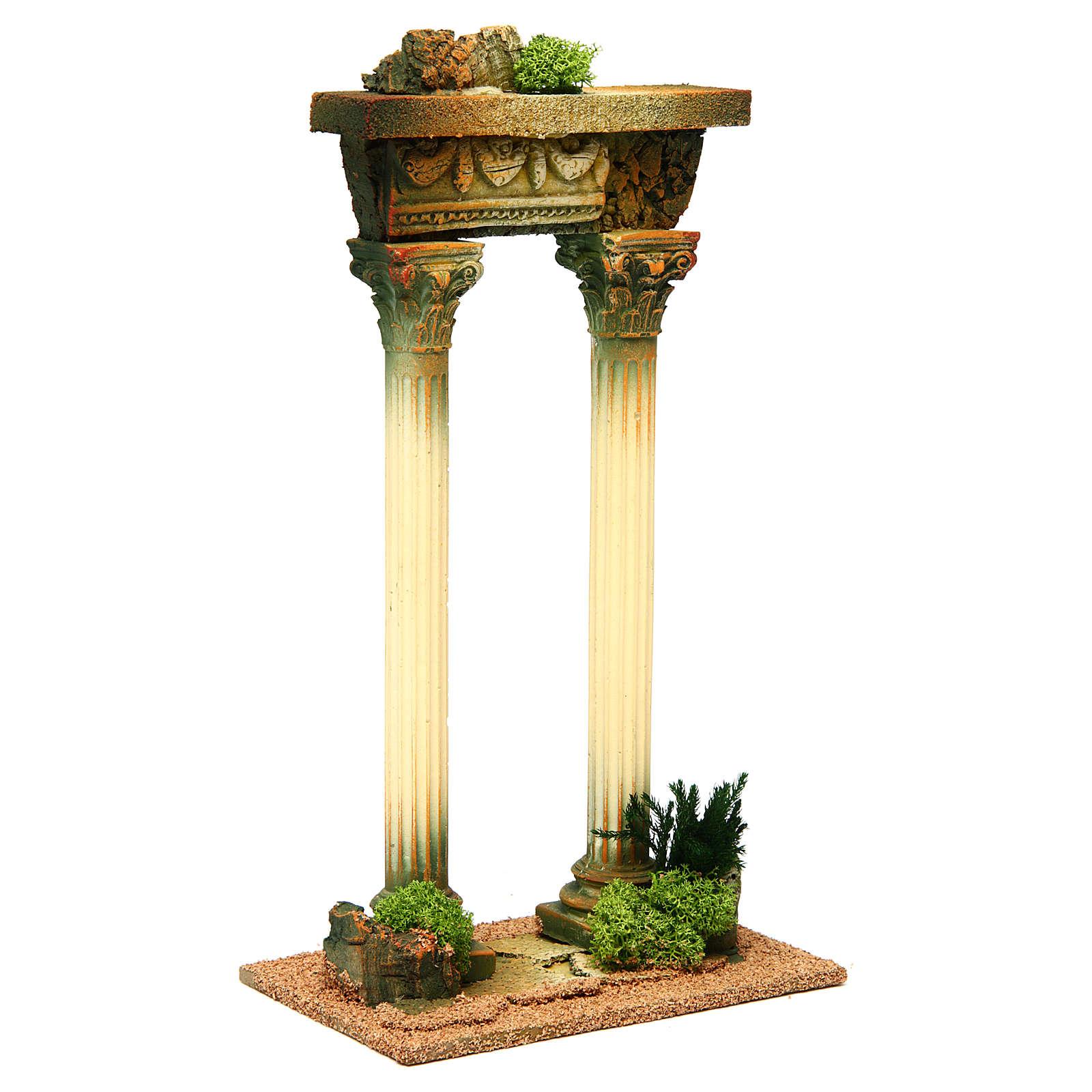 Colonne romane con trave: ambientazione presepe 4