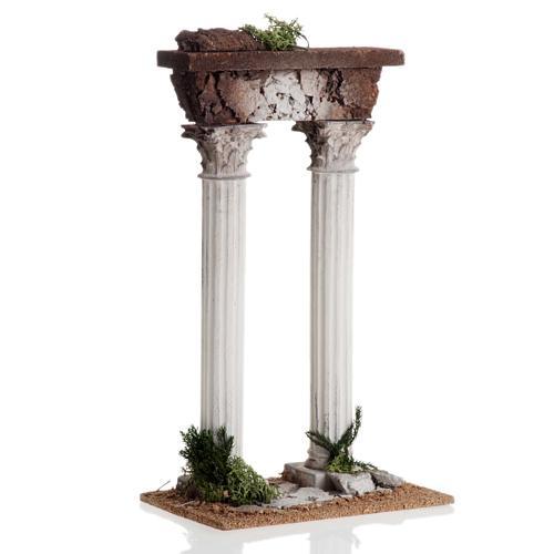 Colonne romane con trave: ambientazione presepe 1