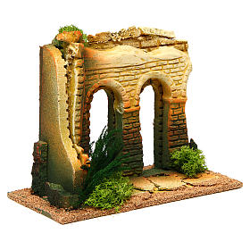 Double archway with bricks for nativity scene s3