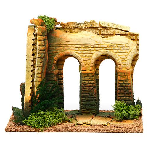Double archway with bricks for nativity scene 1