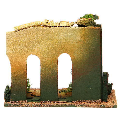 Double archway with bricks for nativity scene 4