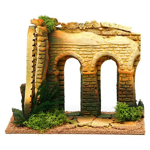 Doble arco con ladrillos: ambientación belén 1