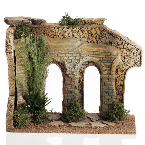 Double arcade miniature crèche Noel 1