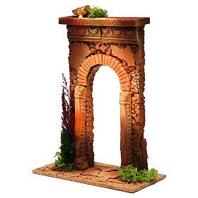 Arco belén con columnas y ladrillos s2