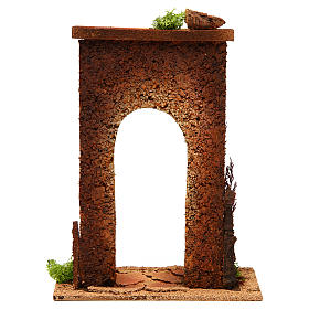 Arco belén con columnas y ladrillos s4