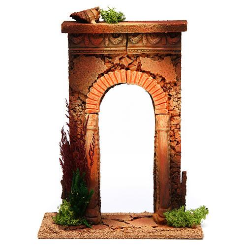 Arco belén con columnas y ladrillos 1